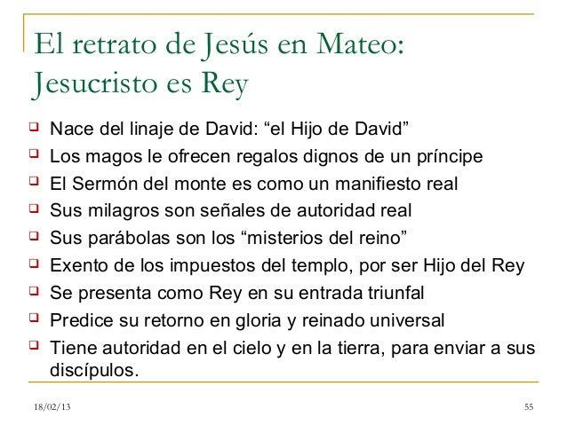 """El retrato de Jesús en Mateo:Jesucristo es Rey   Nace del linaje de David: """"el Hijo de David""""   Los magos le ofrecen reg..."""