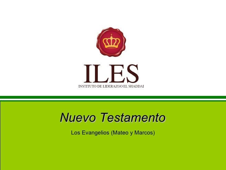Nuevo Testamento Los Evangelios (Mateo y Marcos)