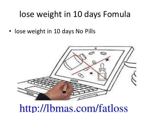 how to lose weight in 10 days at home