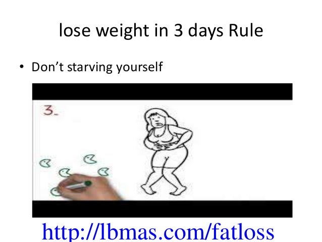 how to lose weight in 3 days youtube