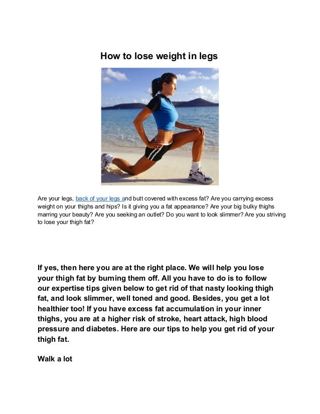 Best way to lose weight on your legs fast