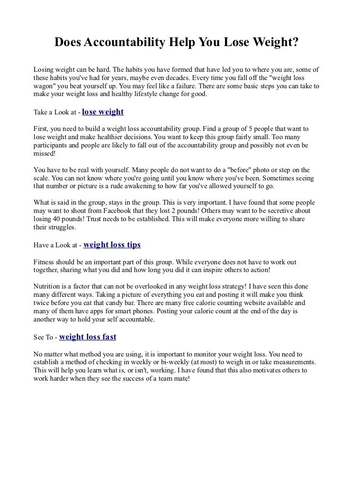 Lose weight pdf does accountability help you lose weightlosing weight can be hard the habits you ccuart Choice Image
