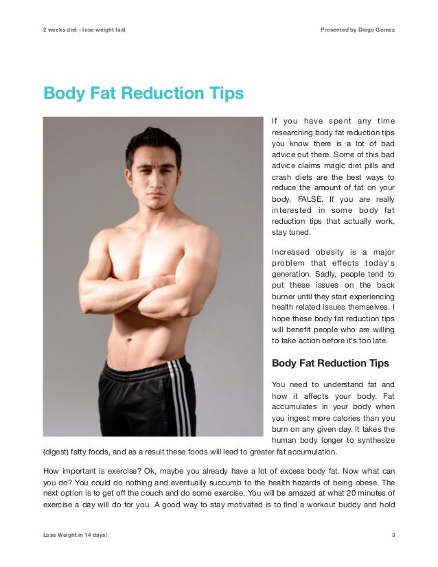 Lose Weight Quick In 2 Weeks