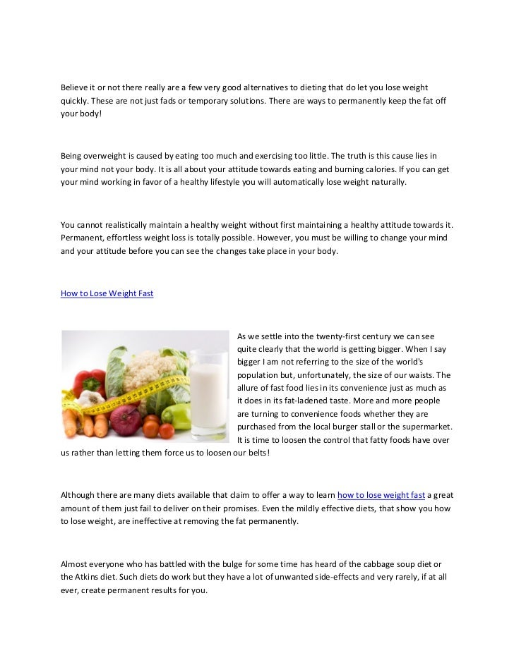 Lose weight the fast way Slide 2