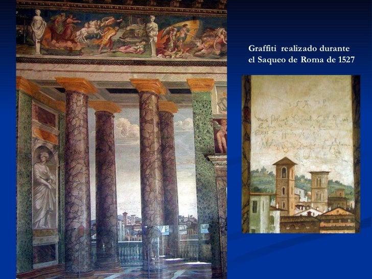 Graffiti  realizado durante el Saqueo de Roma de 1527