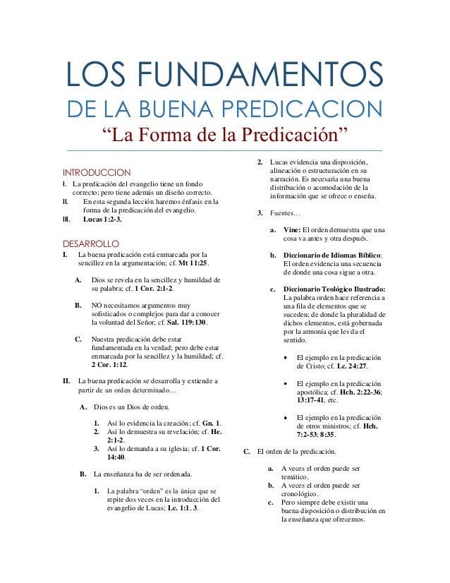 """LOS FUNDAMENTOS DE LA BUENA PREDICACION                 """"La Forma de la Predicación""""                                      ..."""