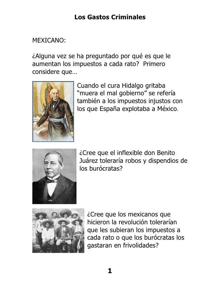 Los gastos criminales de Felipe Calderon