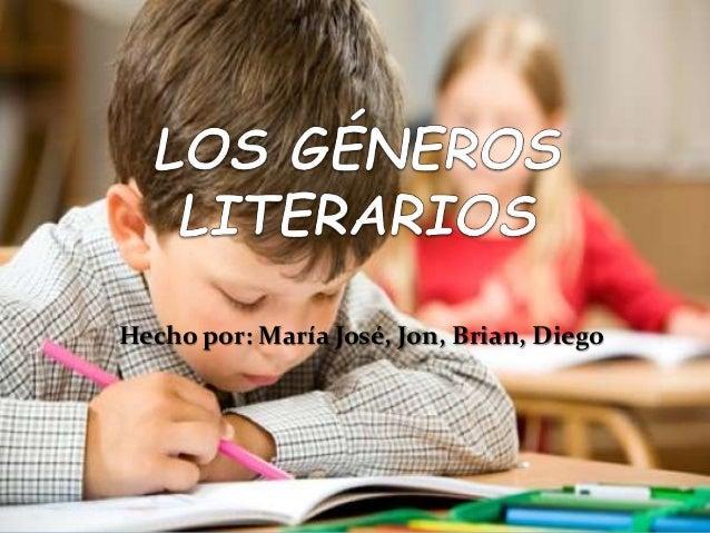 Hecho por: María José, Jon, Brian, Diego