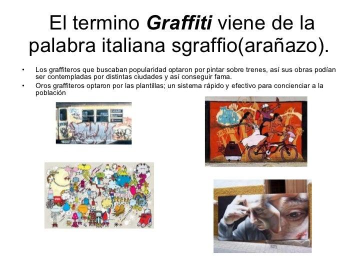 el termino graffiti