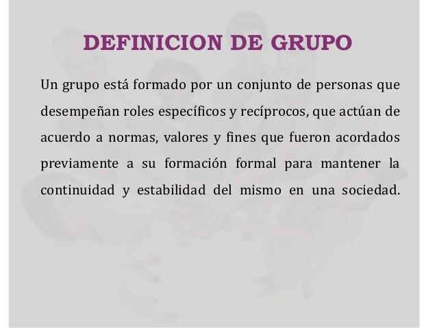Los Grupos Y Su Importancia