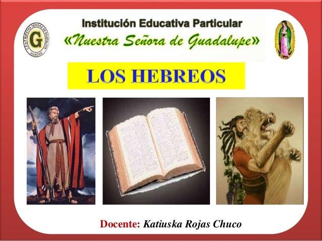 Docente: Katiuska Rojas Chuco