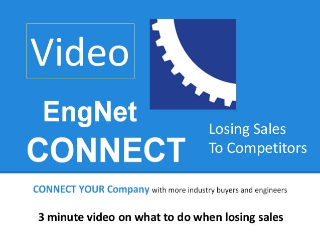 Video Losing Sales To Competitors  3 minute video on what to do when losing sales