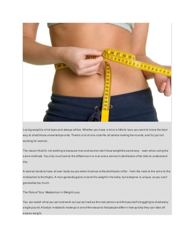 The Best Way for Wo to Lose Weight