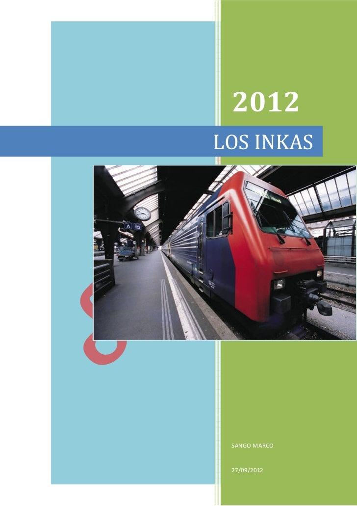 2012LOS INKAS SANGO MARCO 27/09/2012