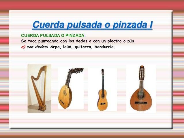 Los instrumentos - Tipos de cuerdas ...
