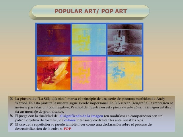 """ La pintura de """"La Silla eléctrica"""" marca el principio de una serie de pinturas mórbidas de AndyWarhol. En esta pintura l..."""