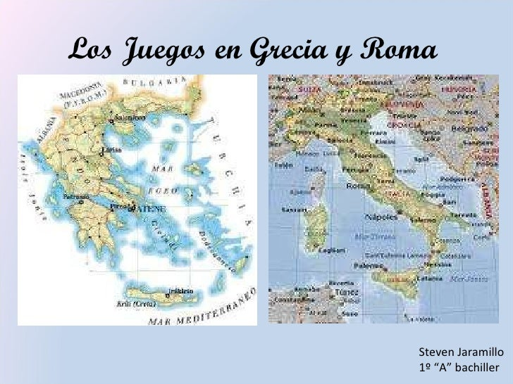 """Los Juegos en Grecia y Roma  Steven Jaramillo  1º """"A"""" bachiller"""