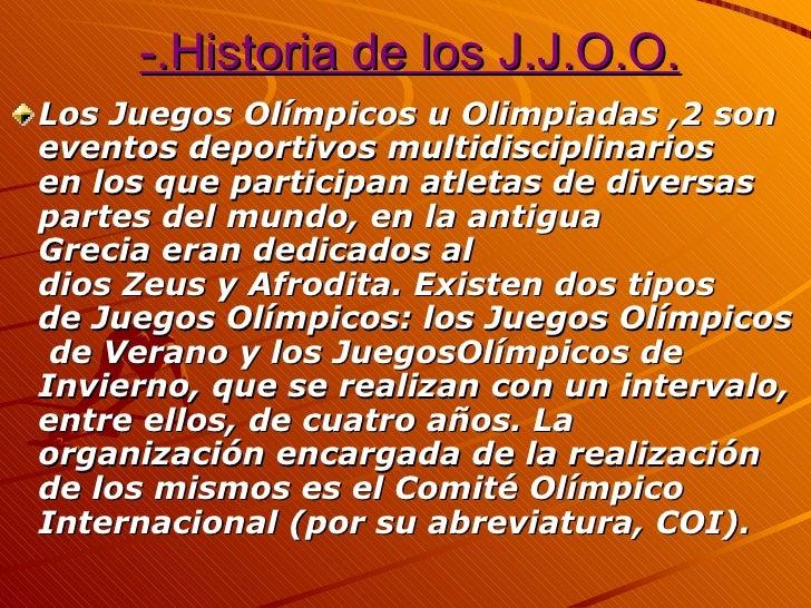 Los juegos olímpicos Slide 2