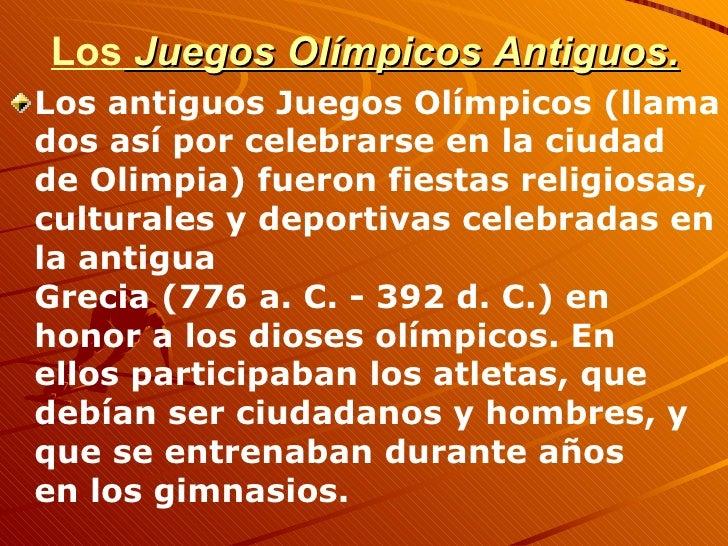 Los juegos olímpicos Slide 3