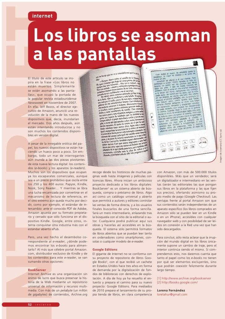 �������        internet           Los libros se asoman        a las pantallas   ��� ������� ��� ����� ��������� ��� ����  ...