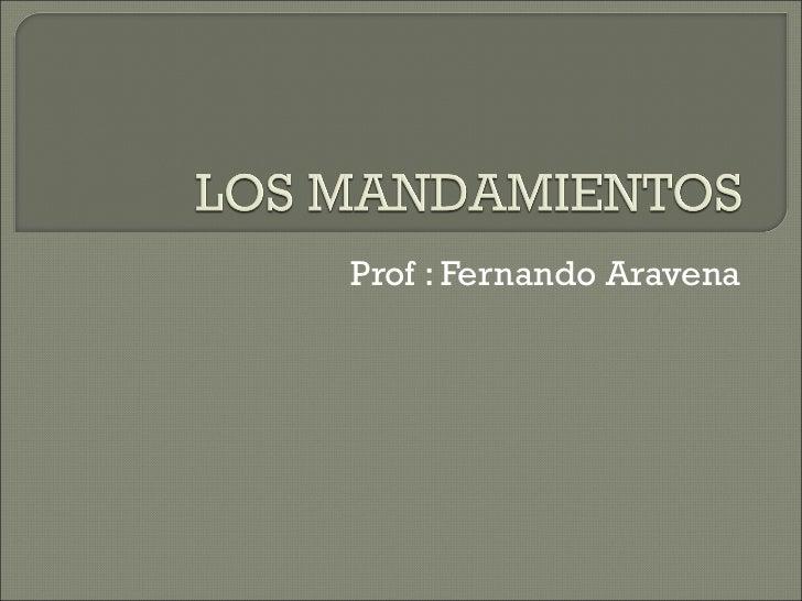 Prof : Fernando Aravena