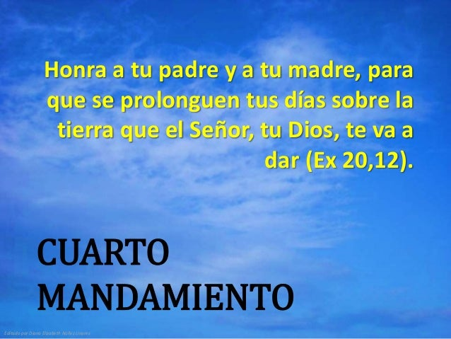 Los mandamientos de la ley de dios for Cuarto mandamiento
