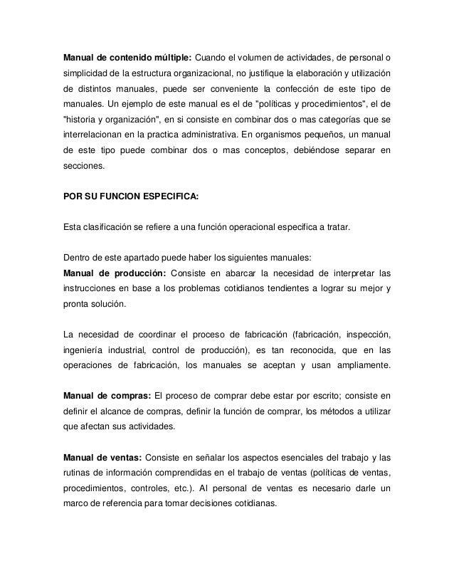 Los manuales administrativos for Manual de compras de un restaurante pdf