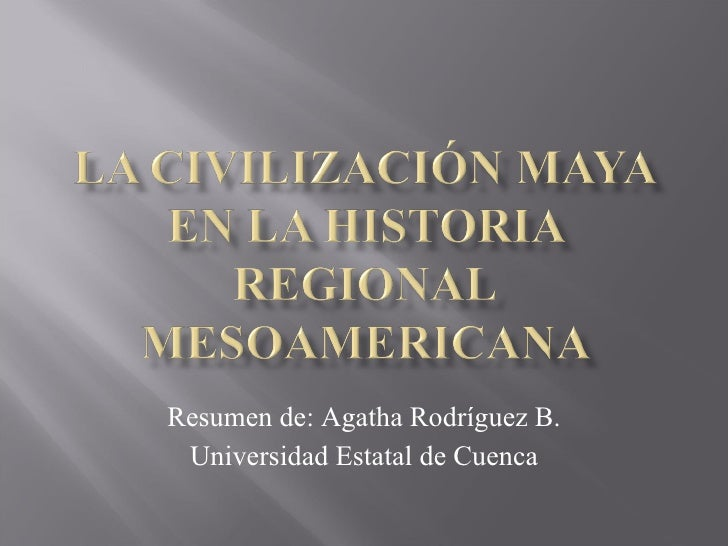 Resumen de: Agatha Rodríguez B. Universidad Estatal de Cuenca