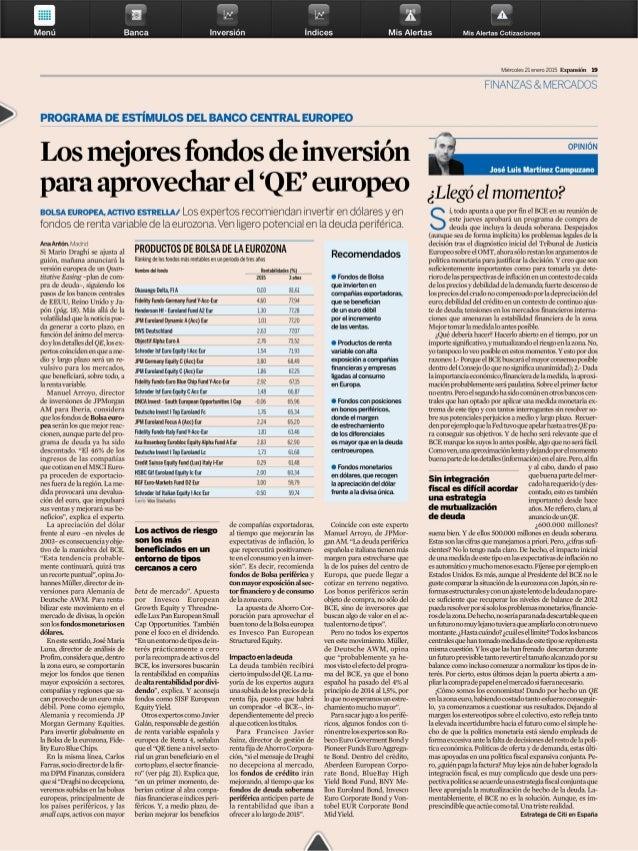 Los mejores fondos de inversion para aprovechar el qe europeo