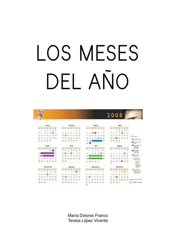 LOS MESES  DEL AÑO       María Dolores Franco   Teresa López Vicente