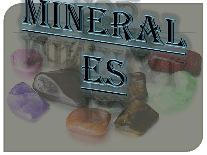 Los minerales<br />
