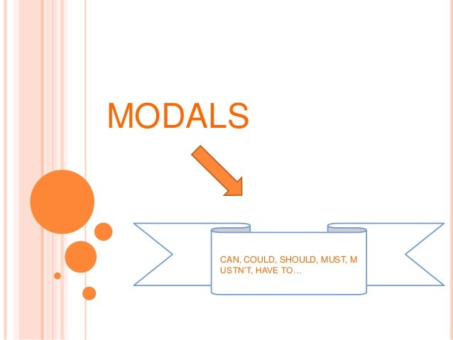 MODALS    CAN, COULD, SHOULD, MUST, M    USTN'T, HAVE TO…