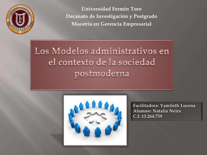 Universidad Fermín ToroDecanato de Investigación y Postgrado  Maestría en Gerencia Empresarial                           F...