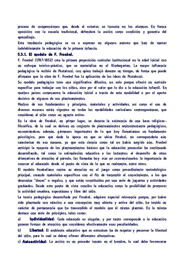 Los modelos pedag gicos de la educaci n de la primera infancia for Accion educativa espanola en el exterior
