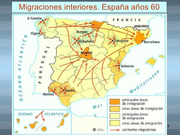 Resultado de imagen de mapa del exodo rural años 60