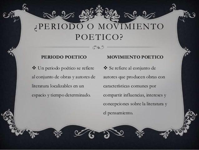 Los movimientos poeticos Slide 2