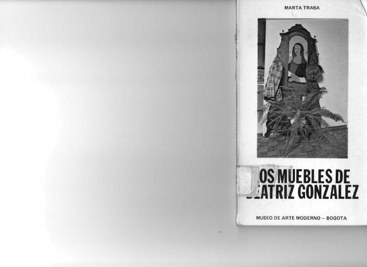 MARTA TRABA       OS MUEBLES DE --ATRIZ GONZÁLEZ  MUSEO DE ARTE MODERNO - BOGOTÁ