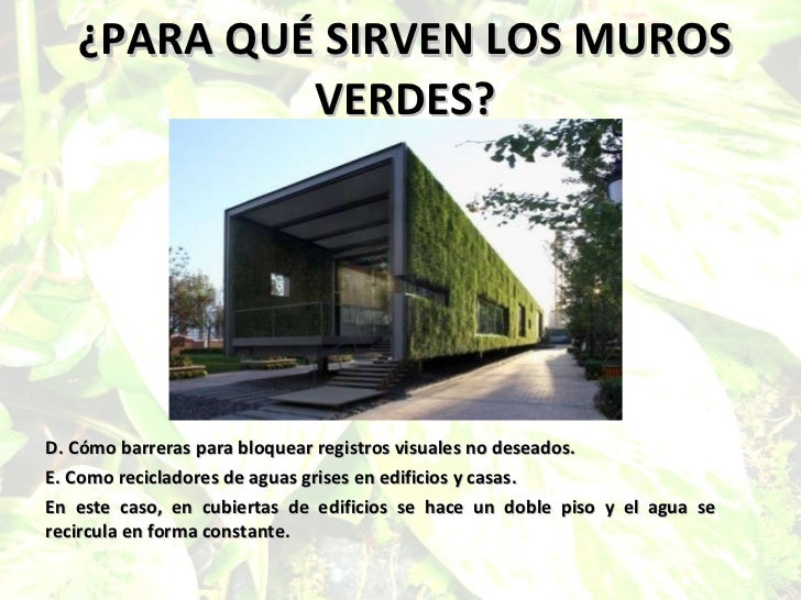 los muros verdes