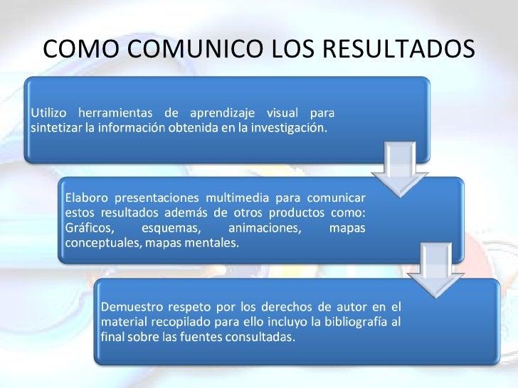COMO COMUNICO LOS RESULTADOS
