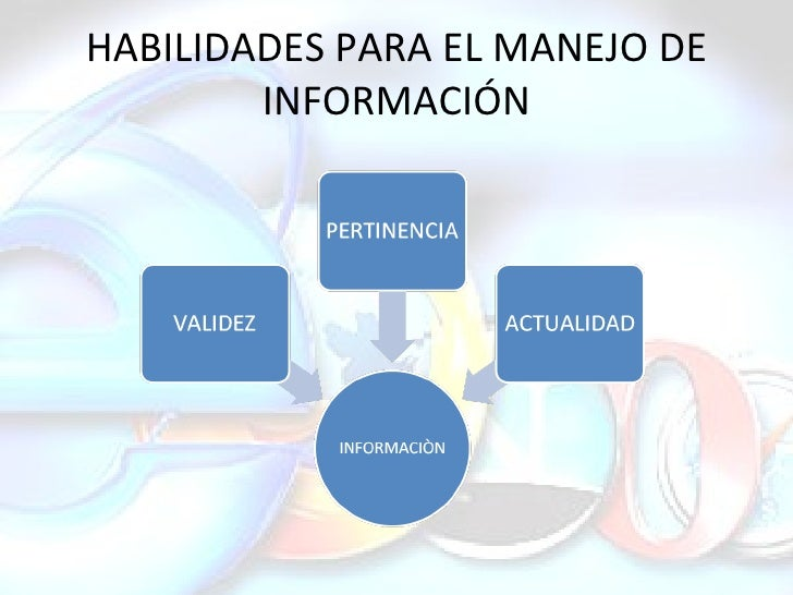 HABILIDADES PARA EL MANEJO DE INFORMACIÓN