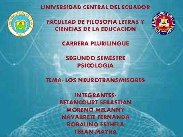 UNIVERSIDAD CENTRAL DEL ECUADOR FACULTAD DE FILOSOFIA LETRAS Y CIENCIAS DE LA EDUCACION CARRERA PLURILINGUE SEGUNDO SEMEST...