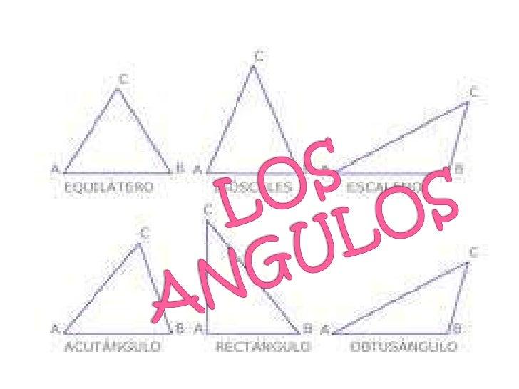  Un ángulo es la parte  del plano comprendida entre  dos semirrectas que tienen el mismo  punto de origen o vértice. Suel...