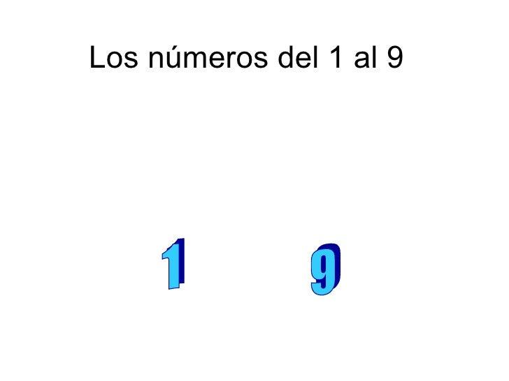 Los números del 1 al 9 1  9
