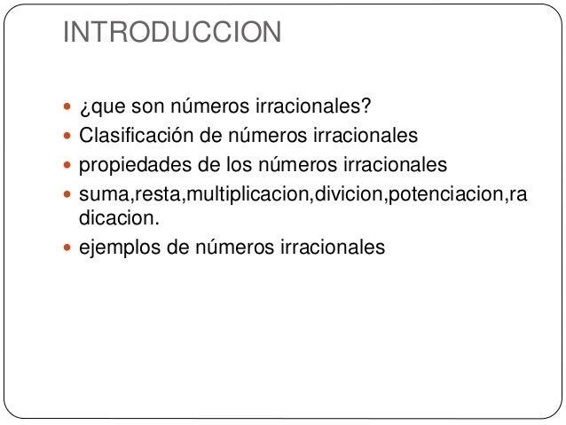 Los números irracionales Slide 2