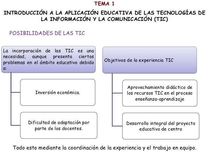 TEMA 1INTRODUCCIÓN A LA APLICACIÓN EDUCATIVA DE LAS TECNOLOGÍAS DE           LA INFORMACIÓN Y LA COMUNICACIÓN (TIC)  POSIB...