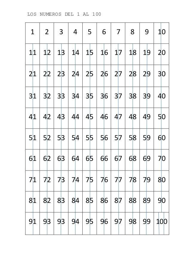 Worksheets 1 Al 100 los numeros del 1 al 100 2 3 4 5 6 7 8 9 10