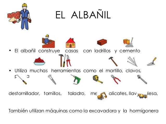 Los oficios frases con pictogramas y jugamos - Herramientas de albanil ...