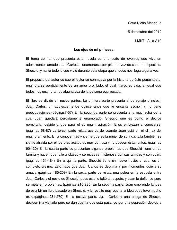 Sofía Nicho Manrique                                                                   5 de octubre del 2012              ...