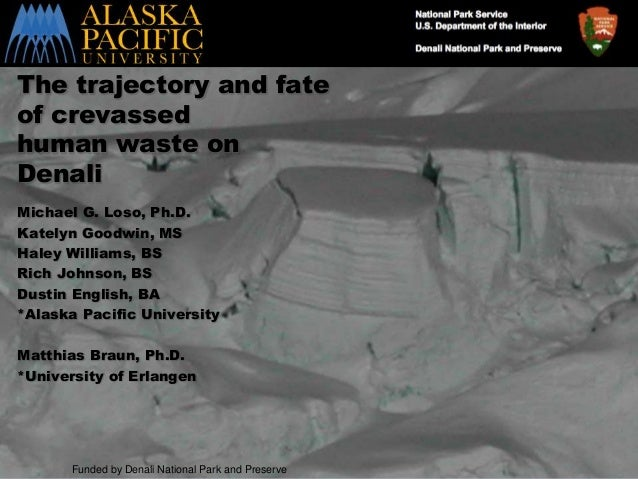 Loso SS 7/23/2014 The trajectory and fate of crevassed human waste on Denali Michael G. Loso, Ph.D. Katelyn Goodwin, MS Ha...