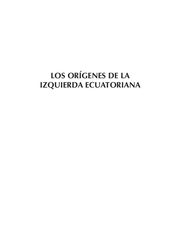 LOS ORÍGENES DE LA IZQUIERDA ECUATORIANA